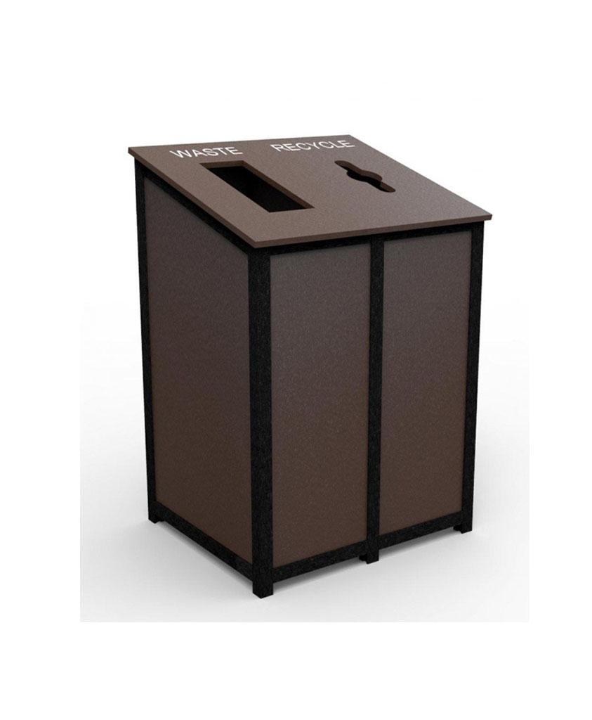 Waste recycling receptacle designed made to order - Slimline waste bin ...