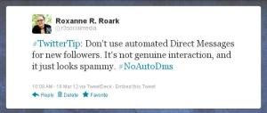 No Automated Direct Messages