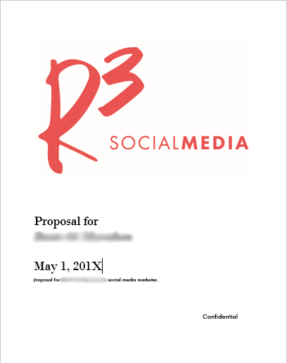 A sample social media marketing proposal
