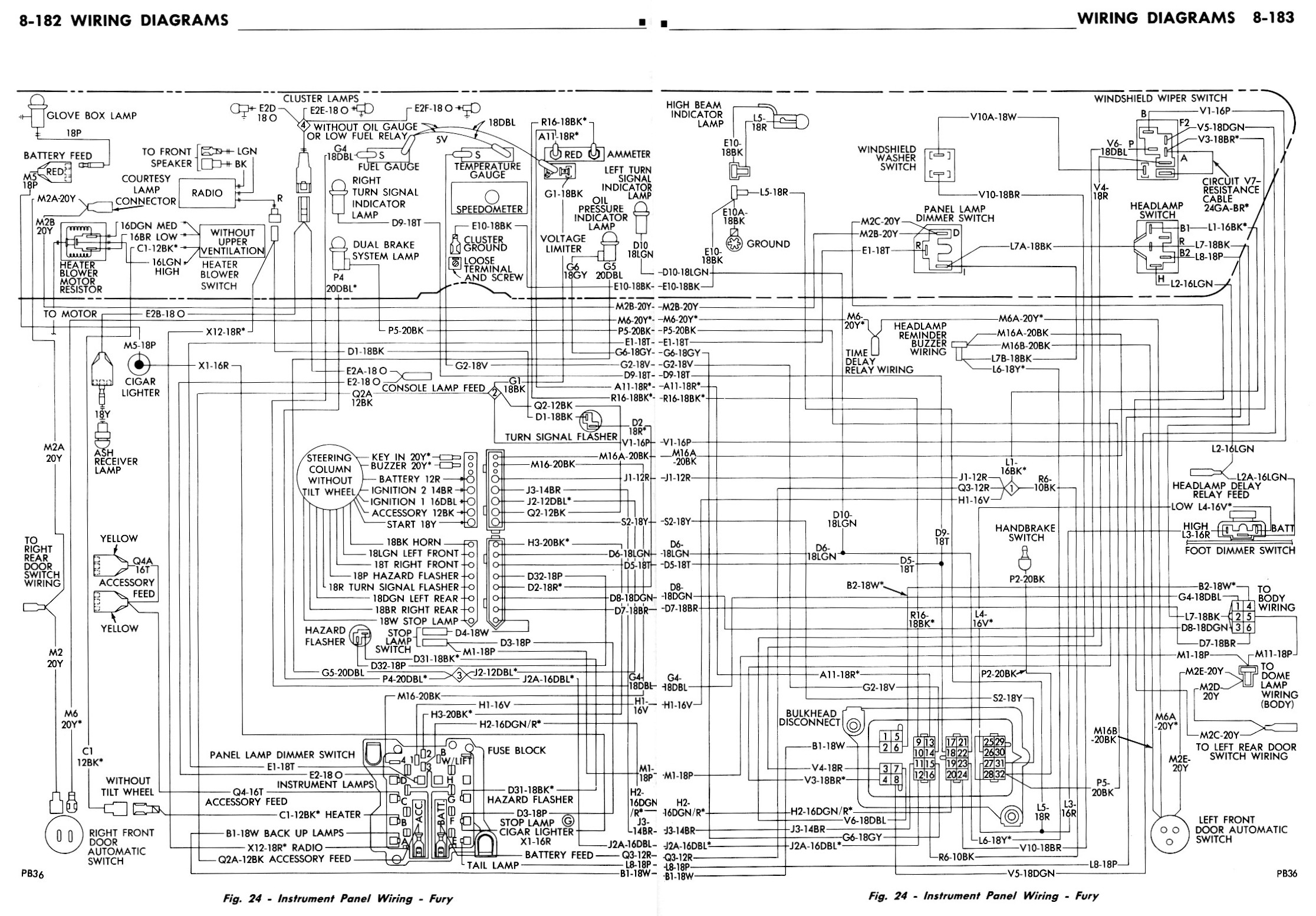 Plymouth Road Runner Dash Wiring Diagram