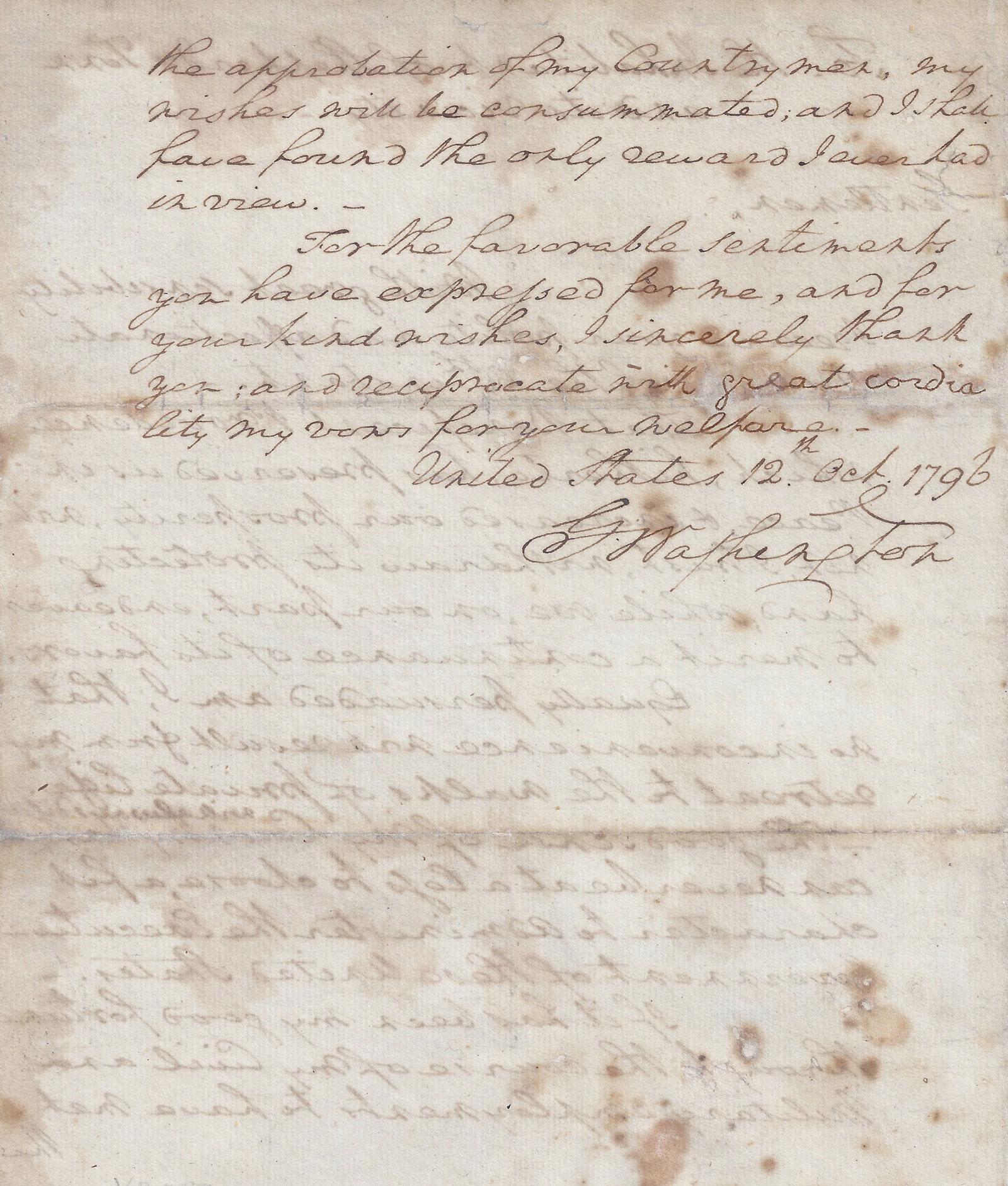 President George Washington S Farewell Address To The