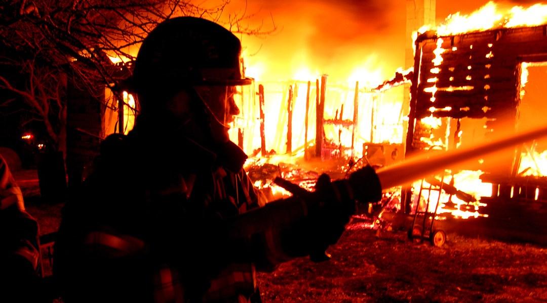 Når det brenner