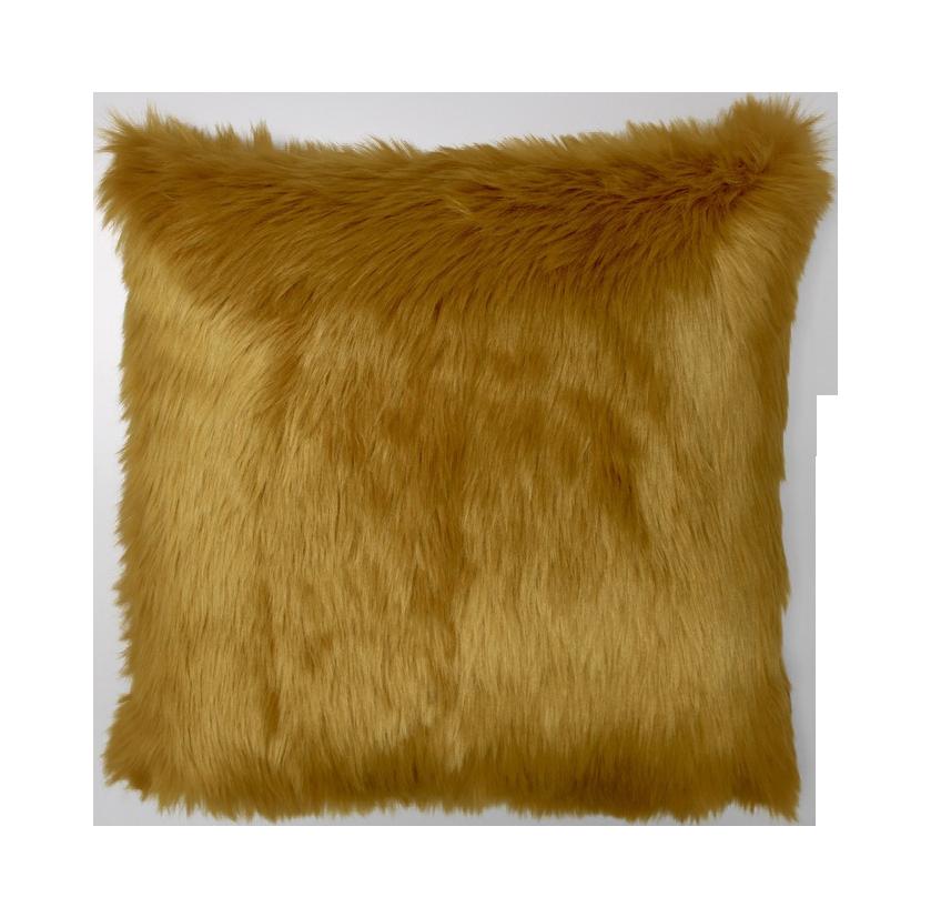 raaf cushion fur yellow 50x50 cm