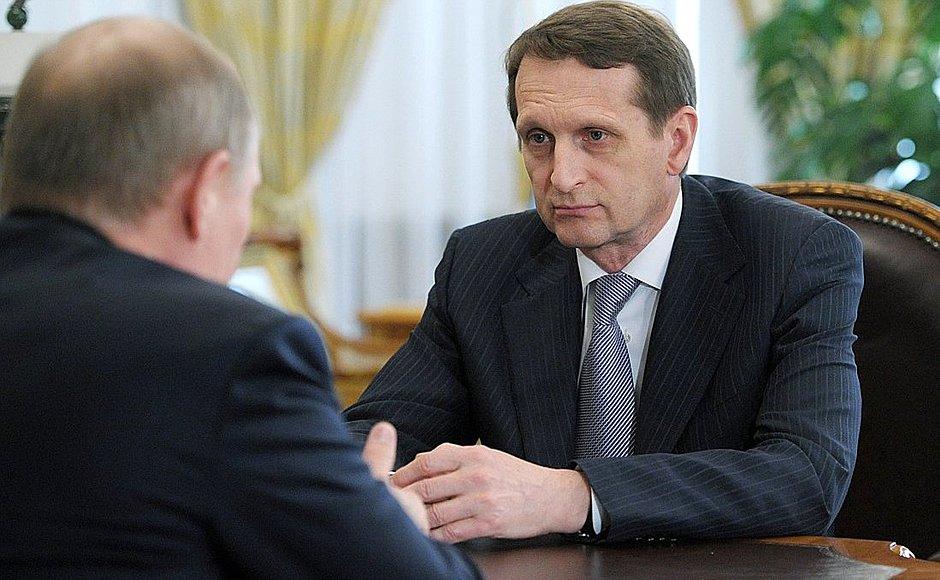 Narysjkin met Poetin