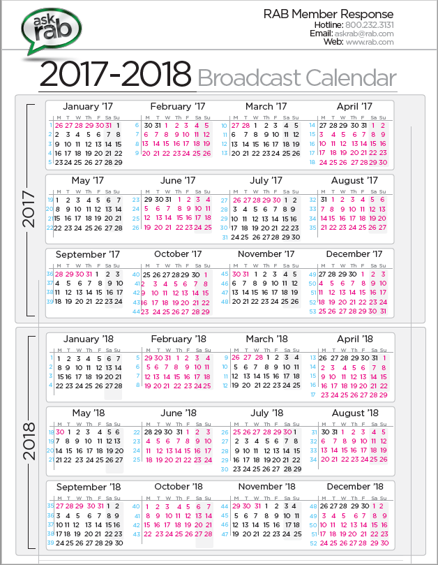 2018 Calendar Broadcast – Merry Christmas And Happy New Year 2018