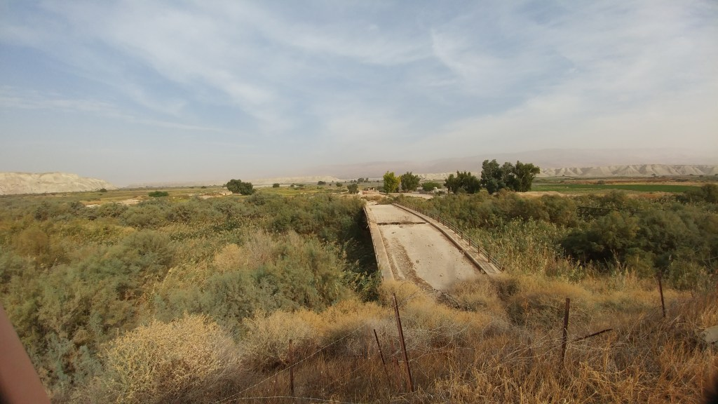 adam bridge jordan valley israel side border