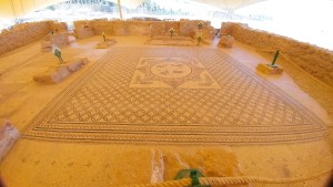 mosaic floor of ancient synagogue