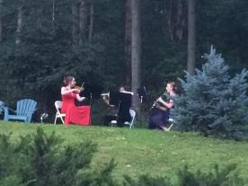 Our trio plays from the top of the hill, with the most phenomenal acoustics!
