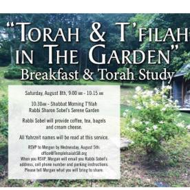 Torah & T'filah in the Garden