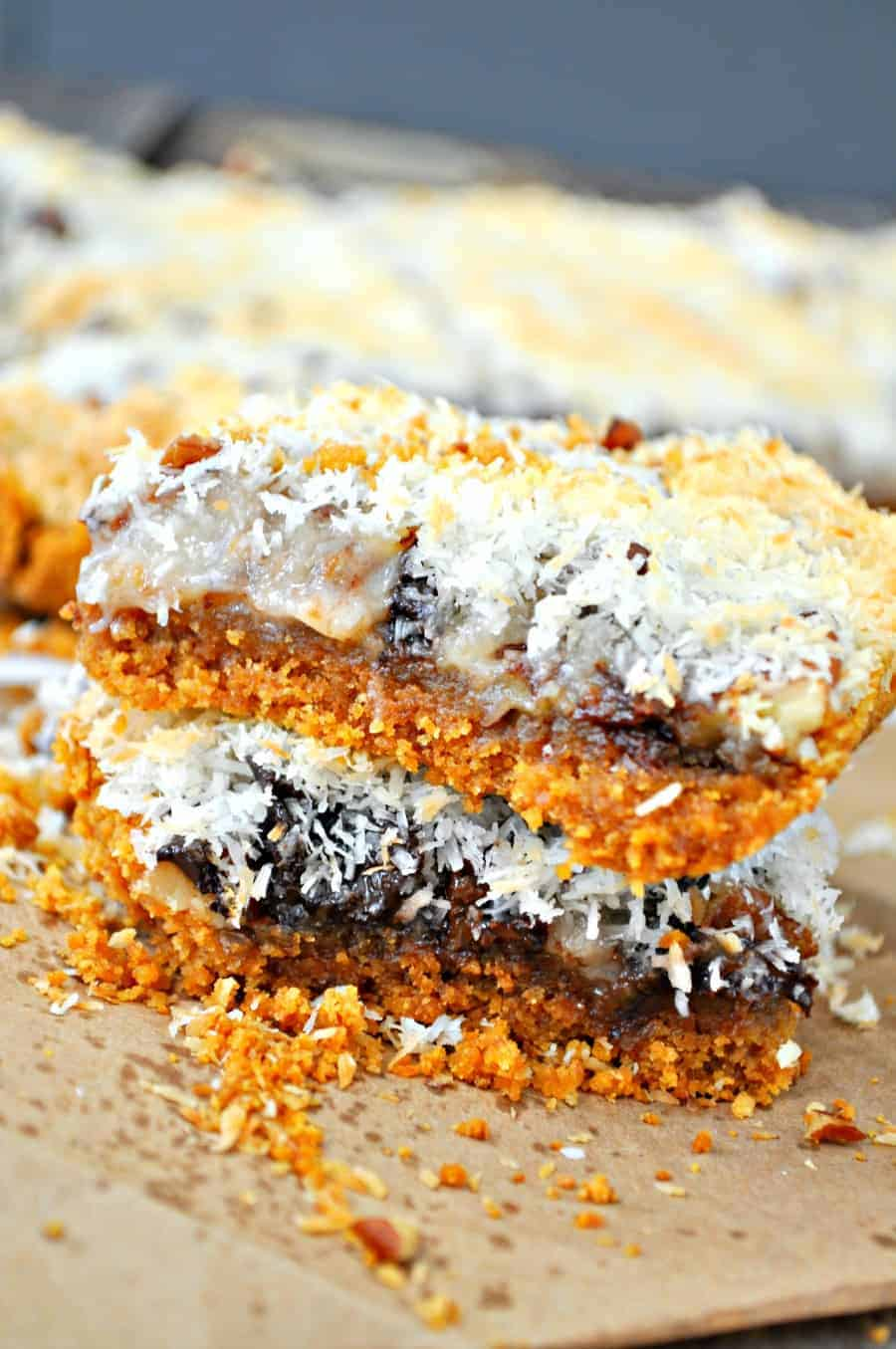 Vegan Hello Dolly Bars Rabbit And Wolves