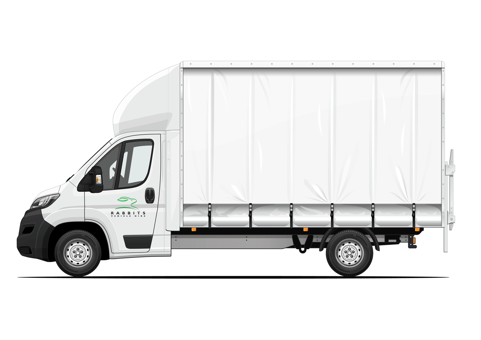 luton curtain side rabbits vehicle hire