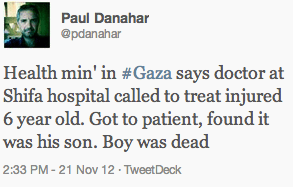 Paul Danahar of the BBC in Gaza @pdanahar
