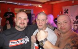 Niko and two known Polish Blood and Honour Nazis - Tomasz Bezdziel and Slawomir Soltys.