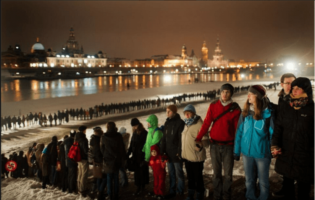 10,000 Dresden citizens against nazis