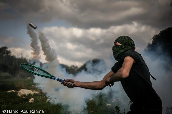 Tear gas on the volley