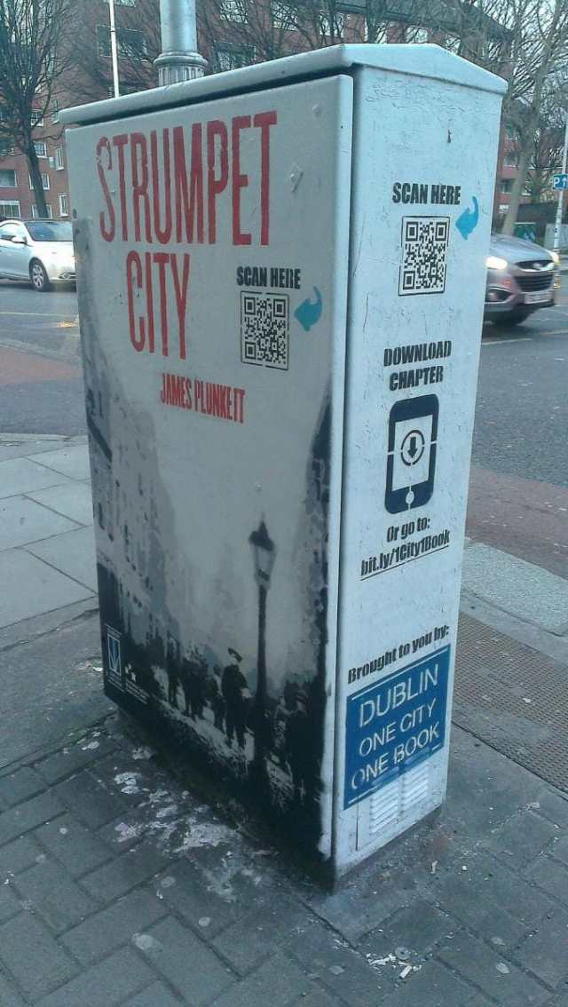 They've been promoting it with street art and free chapter downloads.
