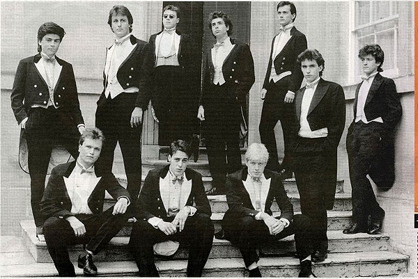 Cameron and Boris Johnson with the Bullingdon Club