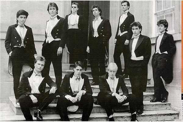 Cameron and Boris Johnson with the Bullingdon Club