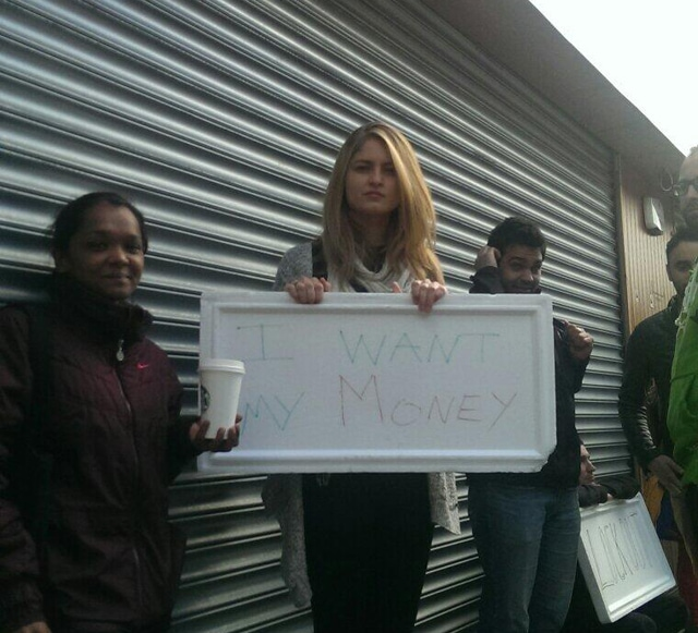 Paris Bakery Staff outside the 18 Moore St. address this morning
