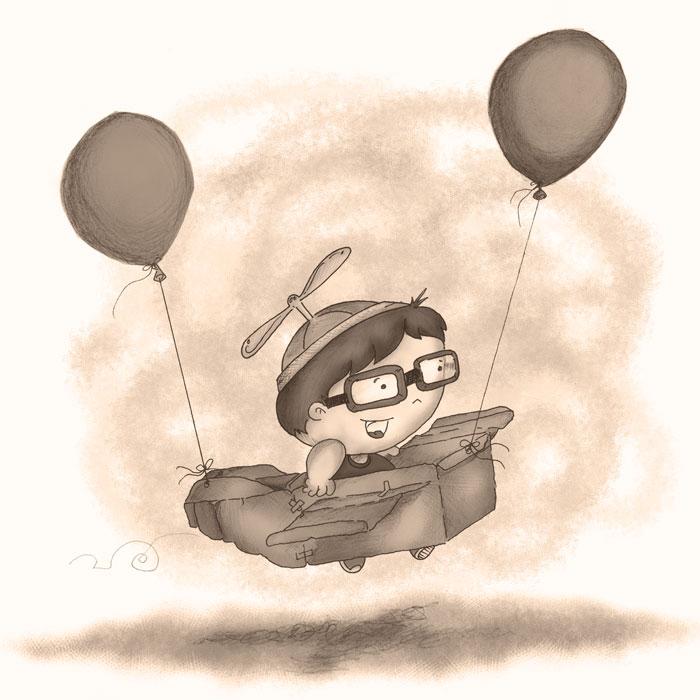 Jack's paper airplane - Rabbleboy - Kenneth Lamug Author
