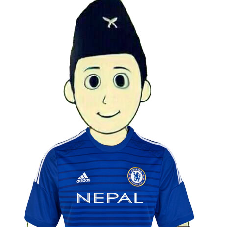 Chelsea Fan From Nepal - Without Flag