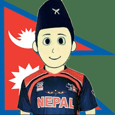 I'm Supporting Nepali Cricket-eyes-no-txt-in-topi