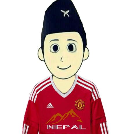 Manchester United Fan From Nepal - Without Flag - Mountains Nepal-PNG
