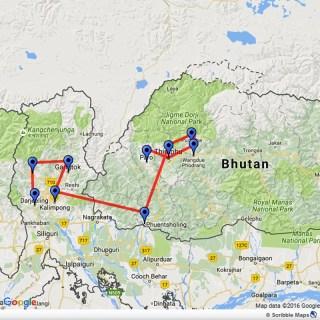 Bhutan-Sikkim Map