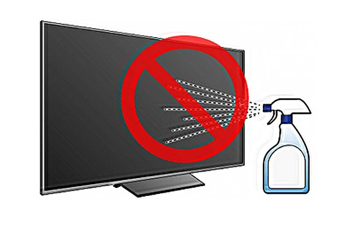 Ways not to use while cleaning TV how to clean