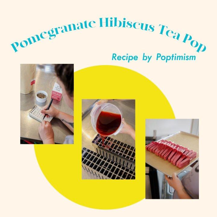 Pomegranate Hibiscus Ice Pop