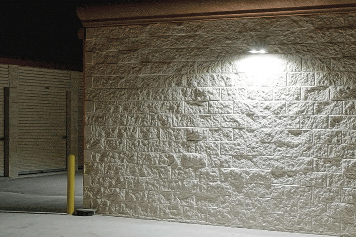rab led lighting assures self storage