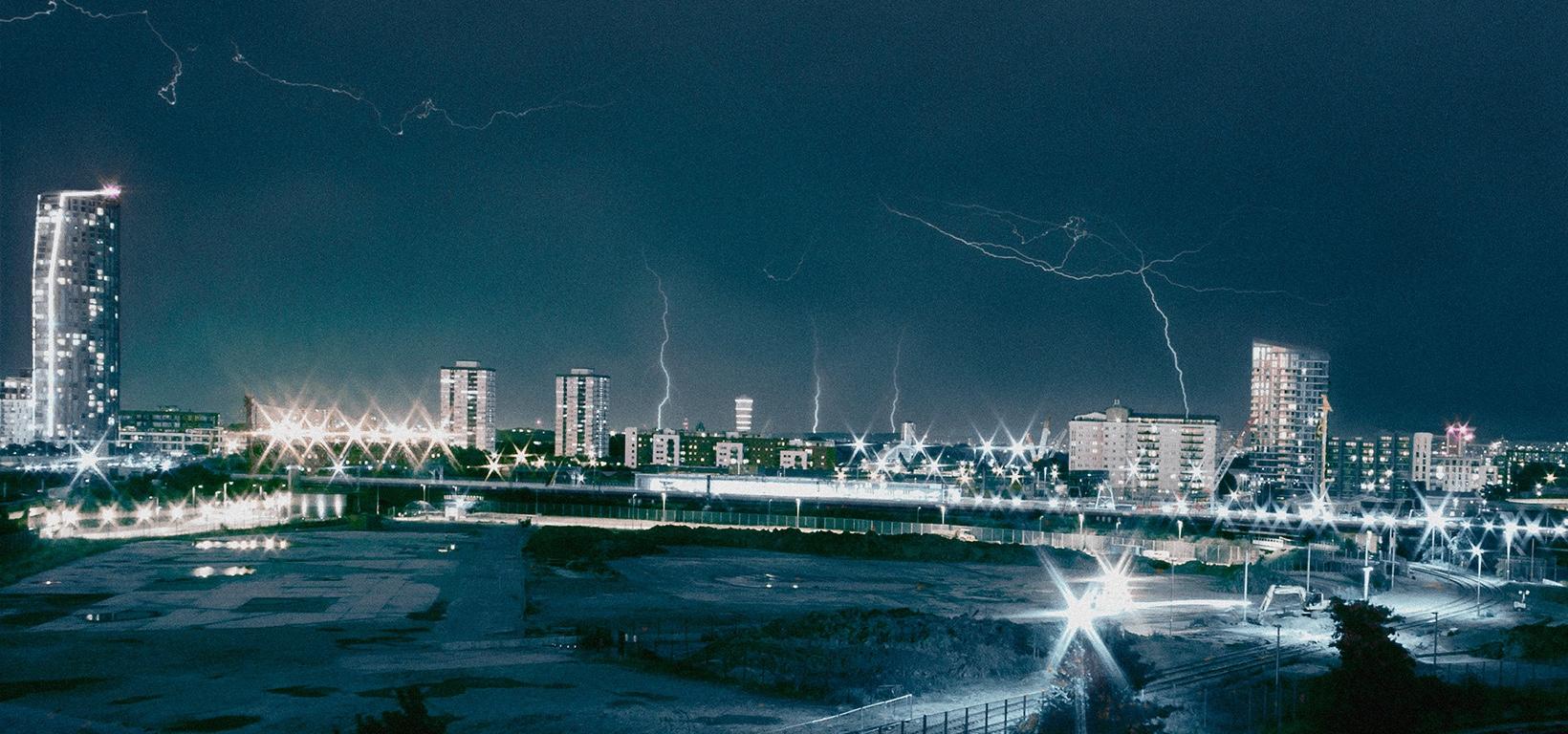 Lightning Stratford London storm