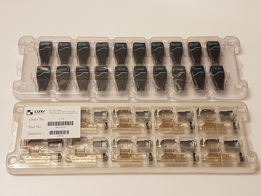 Connecteurs HDMI 30 AWG paquet 10