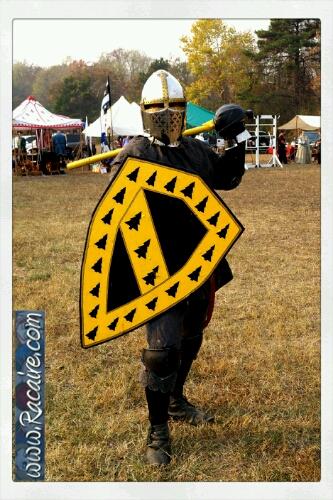 2016-11 - Racaire - Conrad vom Schwarzwald - Meridian Crown Tournament - Conrads new shield - SCA - heavy fighting - Crown Tourney