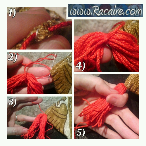 Racaire - tassel for the fast and easy pouch tutorial .2