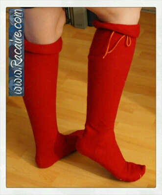 My very first own medieval stockings sewing pattern - my first women's hose revisited