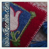 Racaire 2014 - another needle book with Klosterstich embroidery - hand embroidery - medieval embroidery - cloister stitch embroidery technique