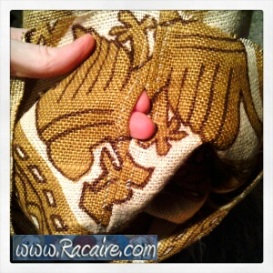 hand sewing a pouch for my 14th century inspired backgammon game