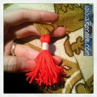 Craft with Racaire – fast and easy pouch tutorial – finished hand made tassel