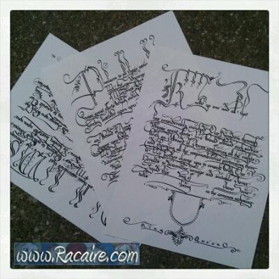 Scriptorium – new AoA blank scrolls for Meridies - calligraphy - Bastarda - Batarde - hand writing