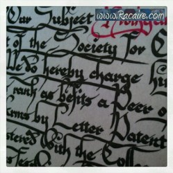2014 - calligraphy - SCA - knighting scroll
