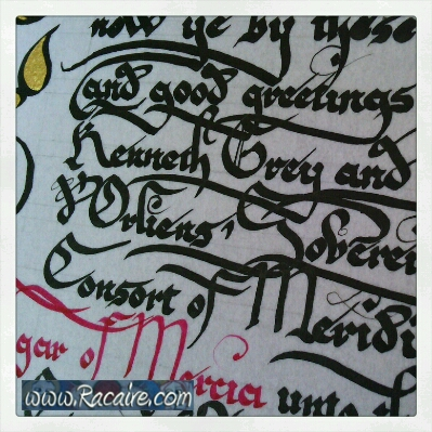 2014-09_Knighting-scroll_1_Racaire_detail_text
