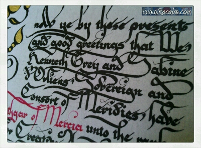 2014-10_Racaire_Hrothgars-knighting-scroll_detail-2