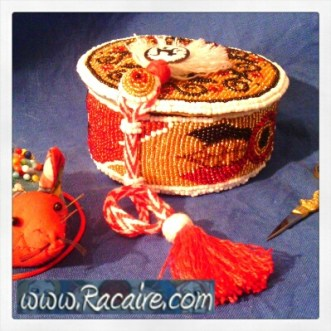 "beaded ""Reliquary Pouch"" - Medieval embroidery"