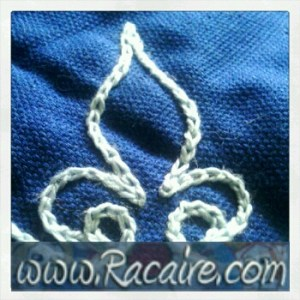 2016-07 - Racaire - arming coat - embroidery - SCA - chain stitch embellishment - hand embroidery