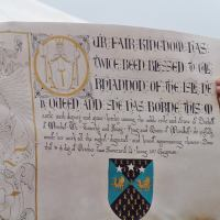 Scriptorium – my secret 12th century scroll project – Duchess scroll .2