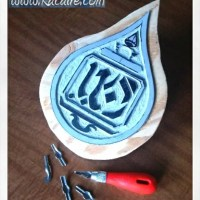 First 12th/13th century inspired block printing stamp finished! - Romanesque teardrop stamp .1