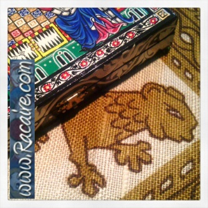 Sneak peek - hand sewing a pouch for my 14th century