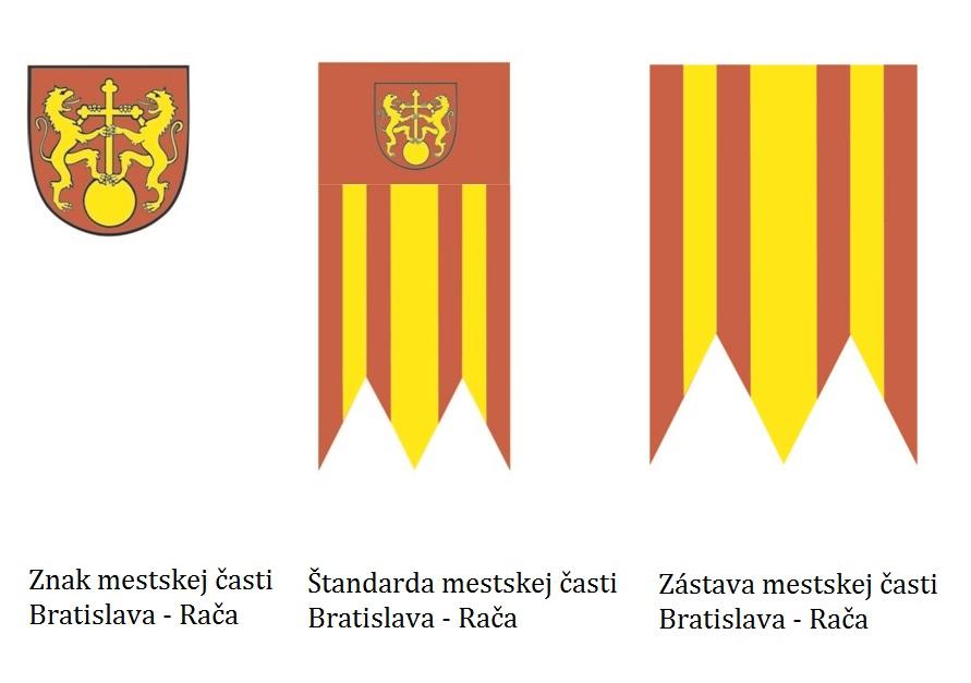 Znak, štandarda a zástava Mestskej časti Bratislava-Rača