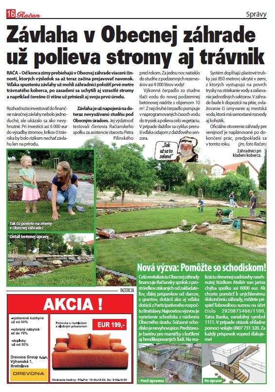 Novinky v Obecnej záhrade